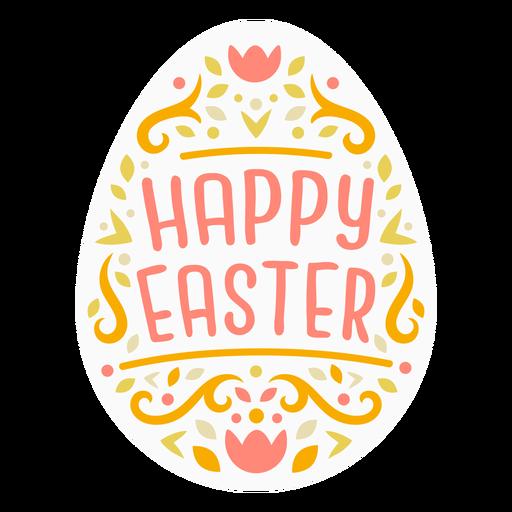 Scandinavian easter egg badge Transparent PNG