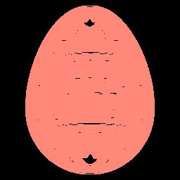 Escandinavo ovo de páscoa emblema vinil
