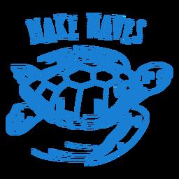 Curso da tartaruga de mar onesie do bebê