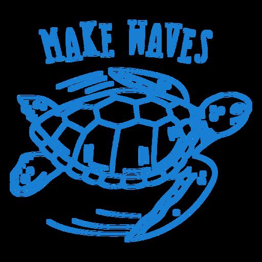 Body bebé tortuga marina