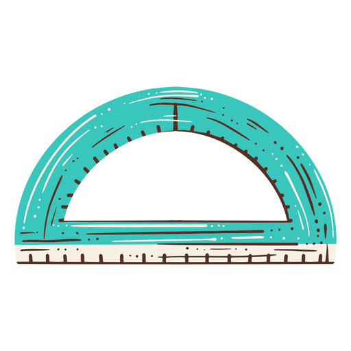 Semicircle geomtry tool hand drawn