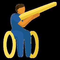 Pictograma paralímpico de rodaje