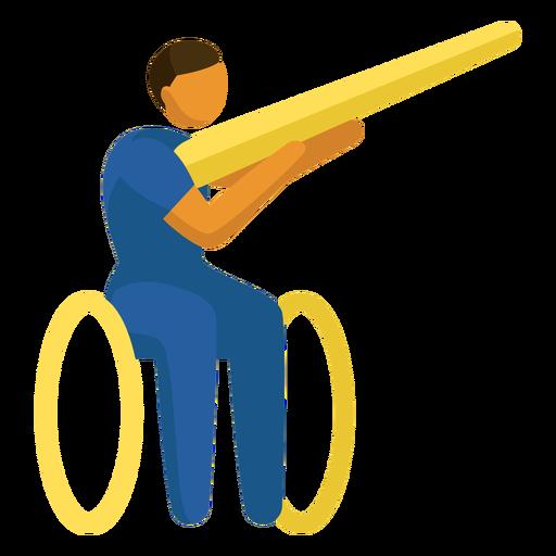 Shooting paralympics pictogram Transparent PNG
