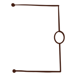 Ilustração simples do circuito elétrico