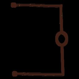 Ilustración de circuito eléctrico simple