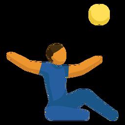 Sitzende Volleyball paralympische Sport Piktogramm