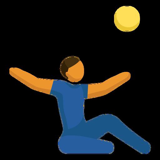 Pictograma de deporte paralímpico de voleibol sentado Transparent PNG