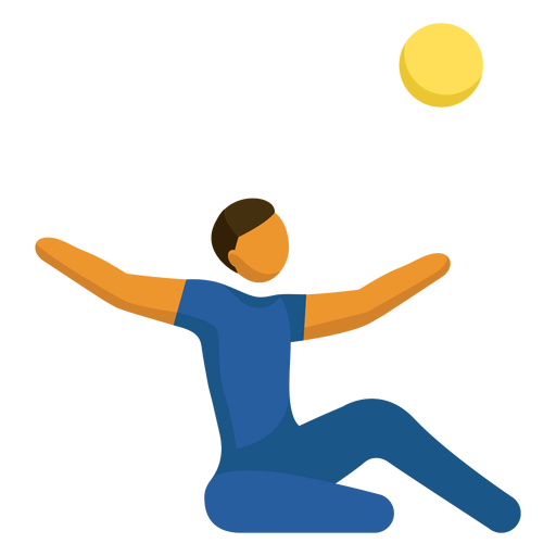 Sitting volleyball paralympic sport pictogram
