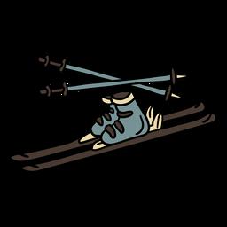 Símbolo austríaco de equipamento de esqui desenhado à mão