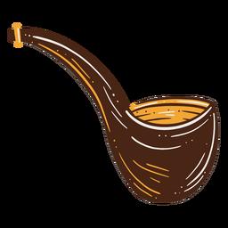 Ilustración de pipa de fumar fumar