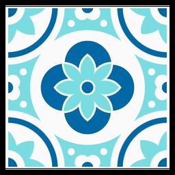 Desenho em mosaico de flores quadradas