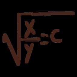 Ilustración de fórmula de raíz cuadrada