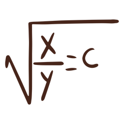 Square root formula illustration
