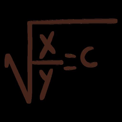 Square root formula illustration
