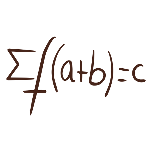 Funciones de suma fórmula matemática dibujada a mano