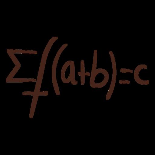 Summation functions math formula hand drawn