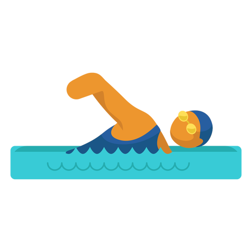 Swimming paralympic sport pictogram Transparent PNG