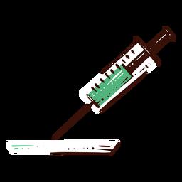Ilustración de medicina de jeringa
