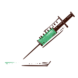 Syringe medicine illustration