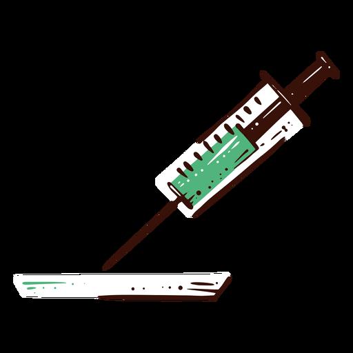 Syringe medicine illustration