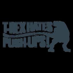 Frase de entrenamiento T rex push ups