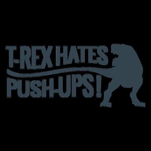 Frase de treino de flexões T rex