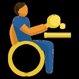 Pictograma paralímpico de tênis de mesa