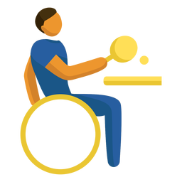 Pictograma paralímpico de tenis de mesa