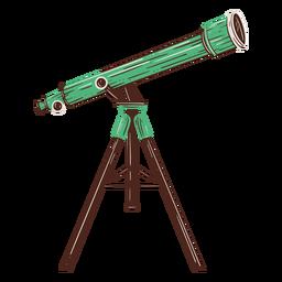 Elemento de diseño dibujado a mano telescopio