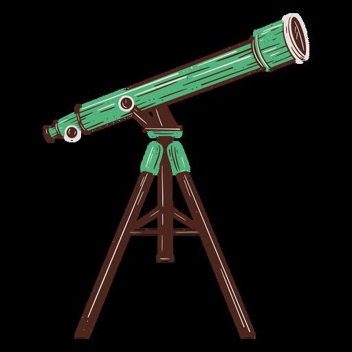 Telescope hand drawn design element Transparent PNG
