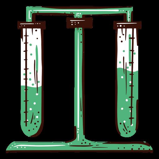 Ilustración de experimento de tubo de ensayo