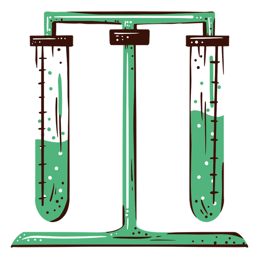 Test tube experiment illustration