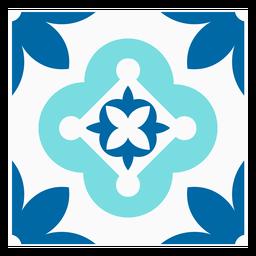 Praça de flor de pétala de azulejo