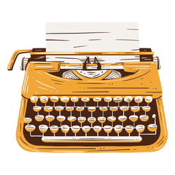 Traditionelles handgezeichnetes Textelement der Schreibmaschine