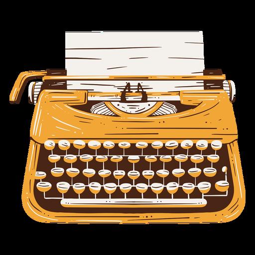 Elemento dibujado a mano de texto de m?quina de escribir tradicional