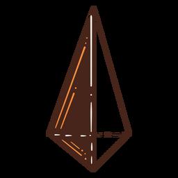 Triangular pyramid hand drawn design