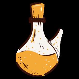 Vacuum flask lab hand drawn element
