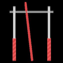 Elemento plano de barra de bóveda