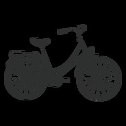Silueta de bicicleta vintage