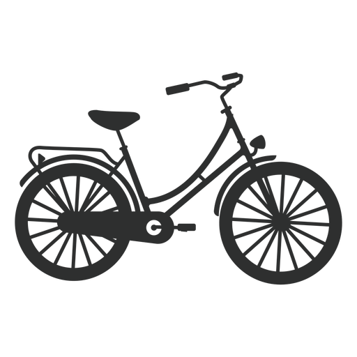 Vintage bike silhouette Transparent PNG