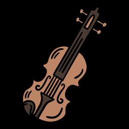 Violino símbolo austríaco handdrawn cor