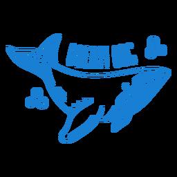 Trazo de diseño de onesies de bebé de ballena