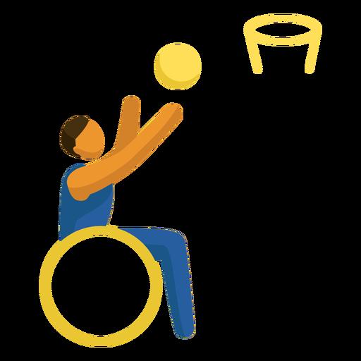 Pictograma de paralímpicos de baloncesto en silla de ruedas Transparent PNG