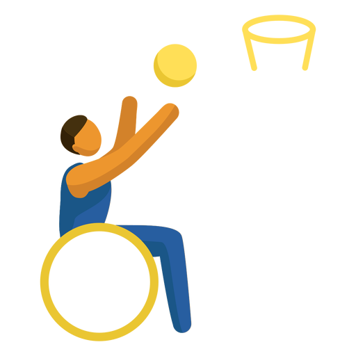 Wheelchair basketball paralympics pictogram Transparent PNG
