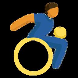 Pictograma de juegos paralímpicos de rugby en silla de ruedas