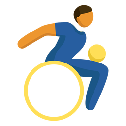 Wheelchair rugby paralympics pictogram