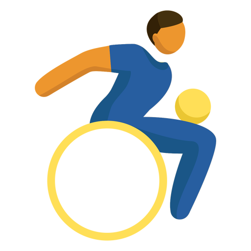 Wheelchair rugby paralympics pictogram Transparent PNG