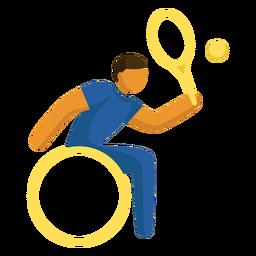Pictograma de tênis em cadeira de rodas