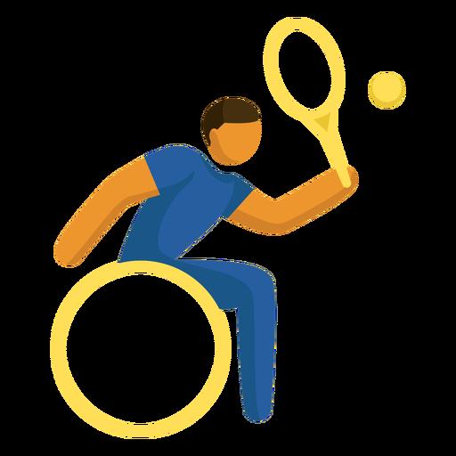 Pictograma de tenis en silla de ruedas