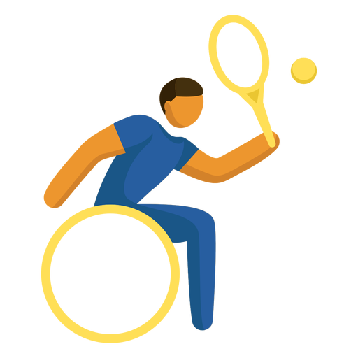 Wheelchair tennis pictogram Transparent PNG